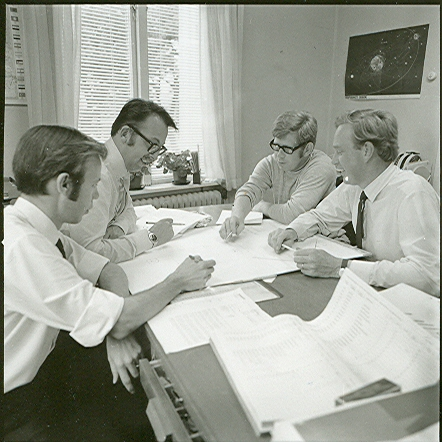 Lasse Cardeberg, jag, Kurt Karlsson och Lennart Svensson